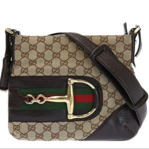 Authentic Gucci Canvas Crossbody/ Shoulder bag